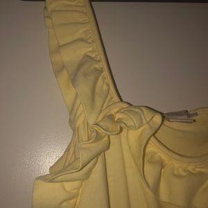 H&M Dresses - Yellow ruffle H&M summer dress size 10